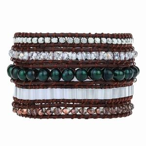 NWT Victoria Emerson crystal & leather bracelet